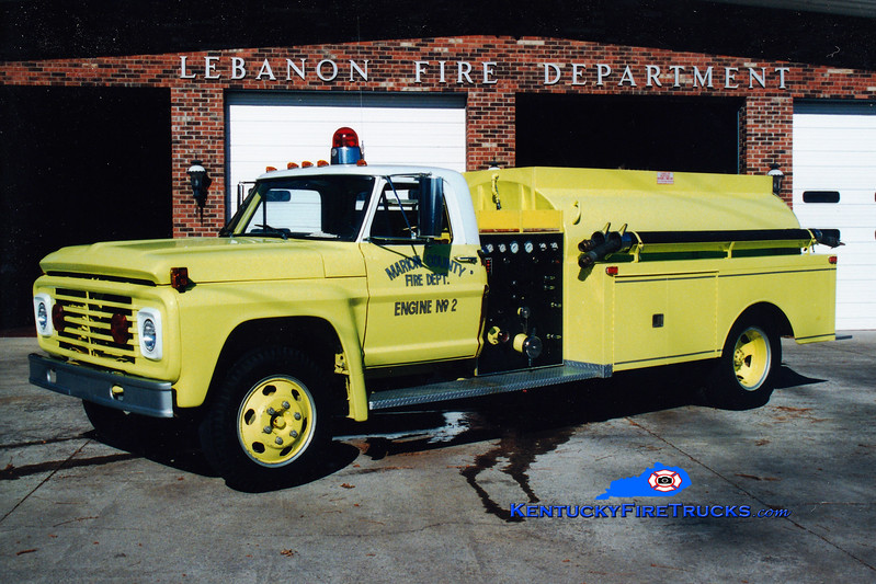 <center> RETIRED <br> Lebanon/Marion County  Engine 2 <br> 1967 Ford F/Local 500/1000 <br> Greg Stapleton photo </center>