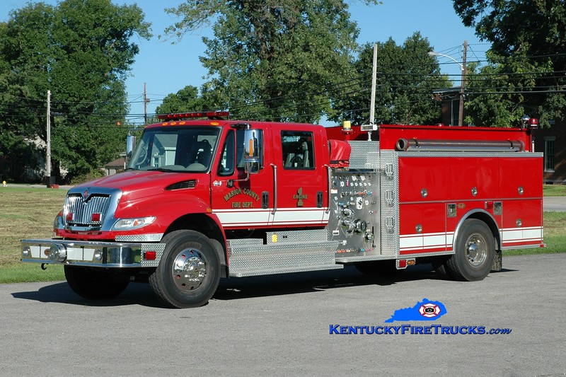 <center> Lebanon/Marion County  Engine 1 <br> 2007 International 4400/KME 1250/1000 <br> Greg Stapleton photo </center>