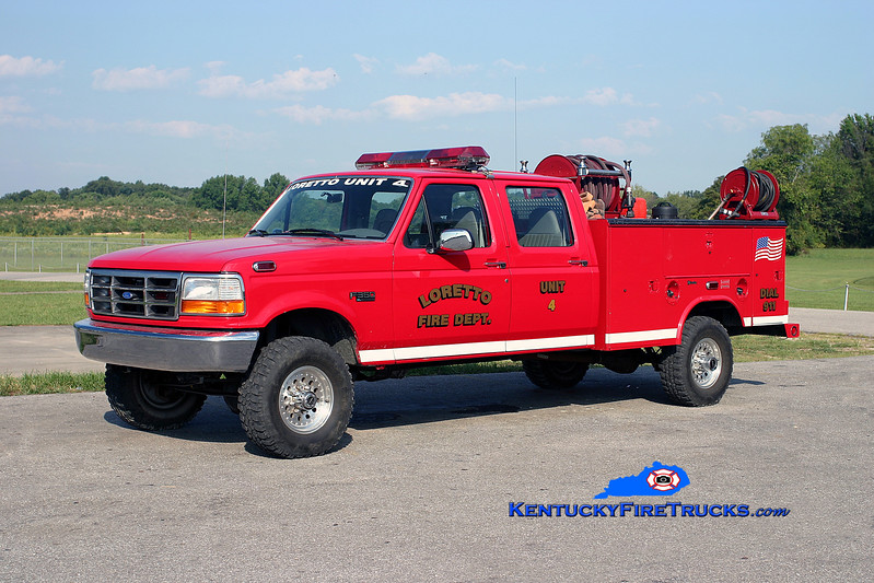 <center> Loretto  Unit 4 <br> 1997 Ford F-350 4x4/Reading-Manning-UPF 250/250 <br> Kent Parrish photo </center>