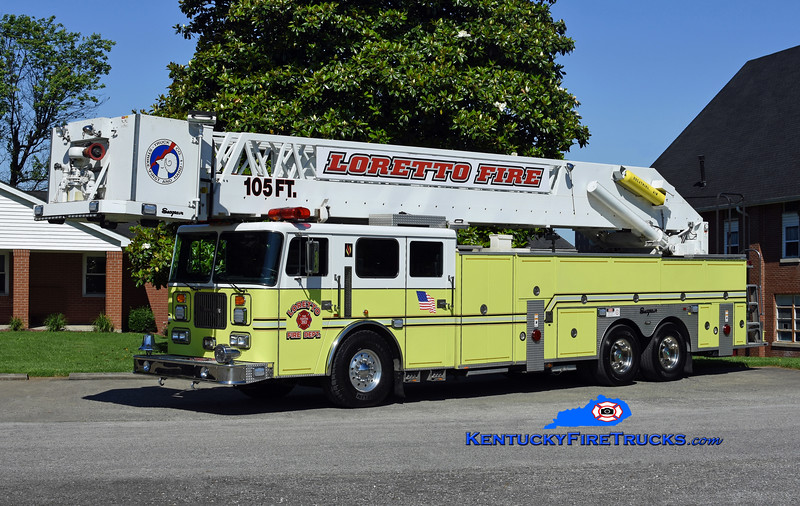 Loretto Platform 10<br /> x-Pleasure Ridge Park, KY<br /> 1998 Seagrave Commander 250/150/105' Apollo<br /> Kent Parrish photo