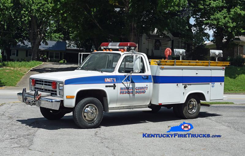 Marion County Rescue Unit 1<br /> 1985 Chevy C30 4x4/Knapheide<br /> Kent Parrish photo
