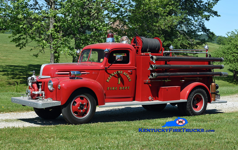 "Privately Owned-Marion County<br /> ""Backache Acres Fire Dept"" <br /> 1944 Ford V-8/American 500/0<br /> Kent Parrish photo"