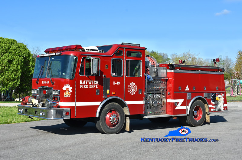 Raywick Engine 49<br /> x-Lake Dreamland, KY<br /> 1994 KME Renegade 1500/750<br /> Kent Parrish photo