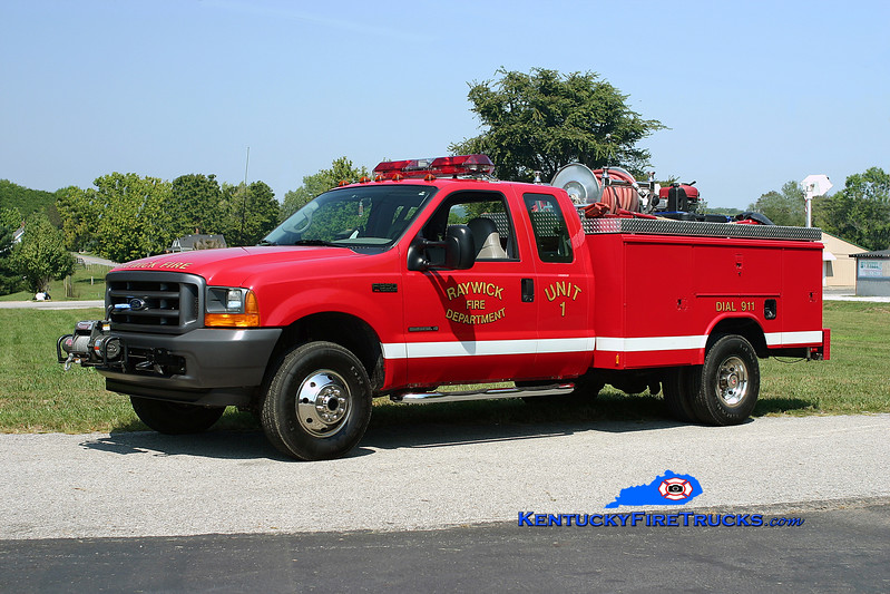 <center> Raywick  Unit 1 <br> 2001 Ford F-350 4x4/Reading-Manning-UPF 250/250 <br> Kent Parrish photo </center>