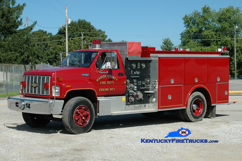<center> Raywick  Engine 2 <br> x-Marion County, KY <br> 1992 Chevy Kodiak/Grumman 1000/1000 <br> Greg Stapleton photo </center>