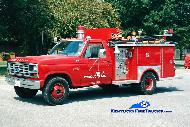 <center> Air Products  Engine 70 <br> 1985 Ford F-350/Allegheny 250/200F<br> Greg Stapleton <br> </center>