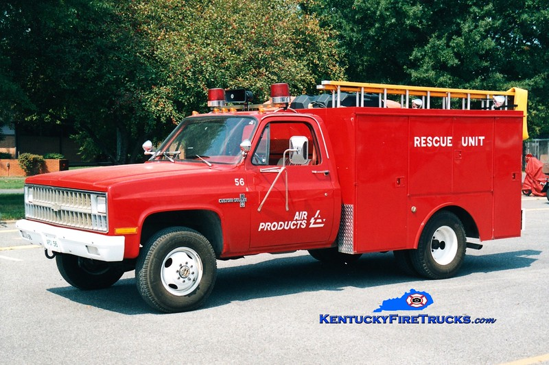 <center> Air Products  Rescue 56 <br> 1981 Chevy C30/Patterson <br> Greg Stapleton <br> </center>