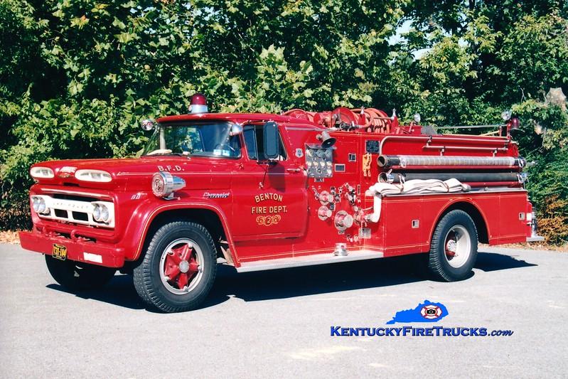 <center> RETIRED <br> Benton  Engine 2 <br> 1960 Chevy/Howe 750/500 <br> Greg Stapleton photo <br> </center>