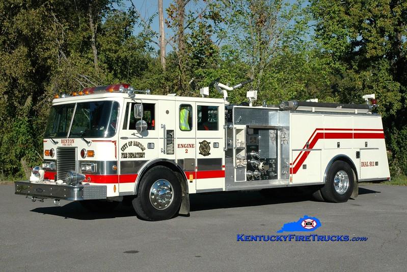 <center> RETIRED <br> Benton  Engine 2 <br> x-Howell Twp, NJ <br> 1988 Pierce Lance 1250/1000 <br> Greg Stapleton photo <br> </center>