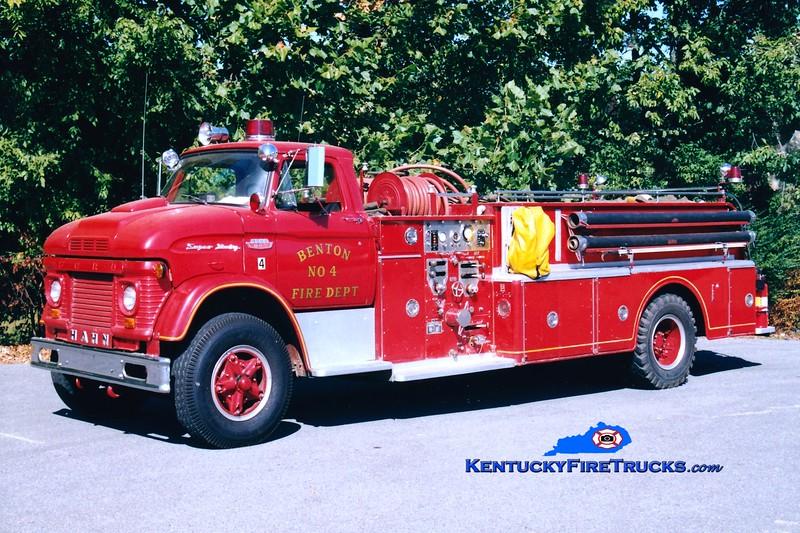 <center> RETIRED <br> Benton  Engine 4 <br> 1964 Ford N/Hahn 750/1000  <br> Greg Stapleton photo <br> </center>