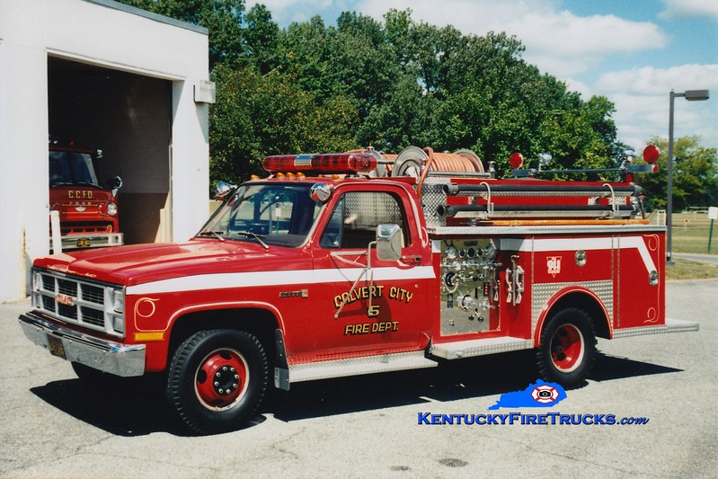 <center> Calvert City  Engine 5  <br> 1983 GMC 4x4/Allegheny 250/250 <br> Greg Stapleton photo </center>