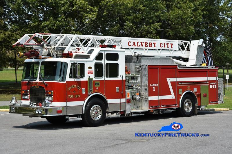 Calvert City Ladder 1<br /> x-Phenix City, AL<br /> 1998 KME Excel 1500/300/75'<br /> Greg Stapleton photo