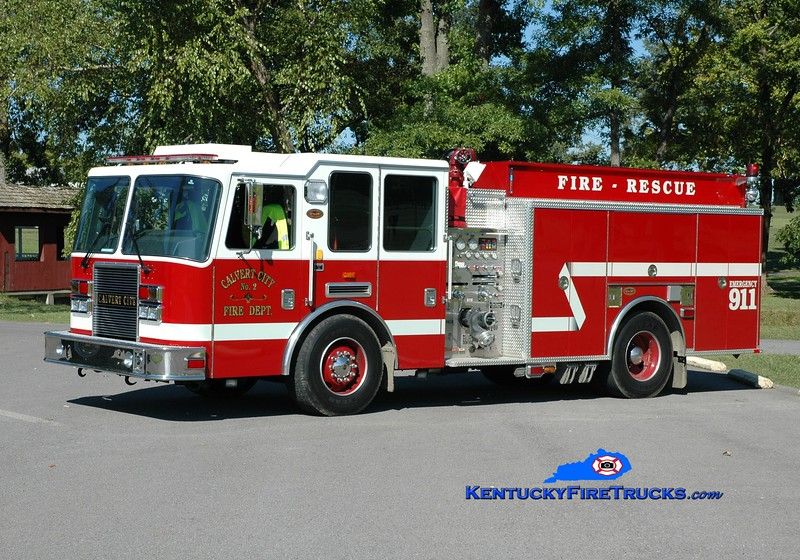 <center> Calvert City  Engine 2  <br> 2007 KME Predator 1500/1000 <br> Greg Stapleton photo </center>