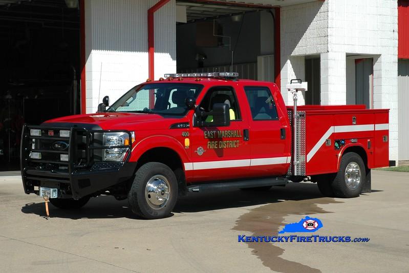 <center> East Marshall  Rescue 400 <br> 2010 Ford F-350 4x4/Knapheide/Emergency Equipment Specialists <br> Greg Stapleton photo </center>