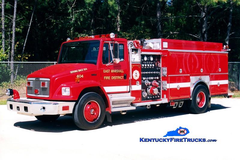 <center> East Marshall  Engine 404 <br> 1997 Freightliner FL80/Ferrara 1250/1000 <br> Greg Stapleton photo </center>