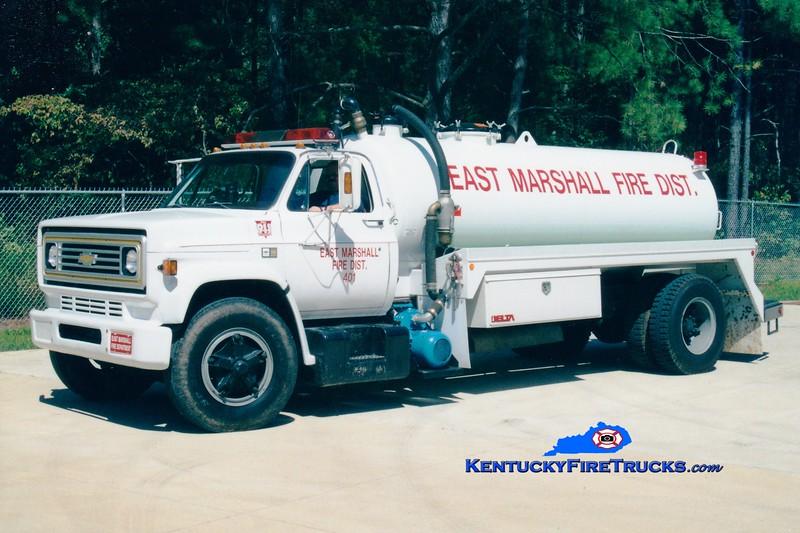 RETIRED <br /> East Marshall  Tanker 401<br /> 1986 Chevy/Local 0/2000<br /> Greg Stapleton photo