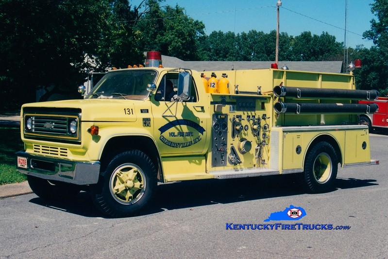 <center> RETIRED <br> Gilbertsville  Engine 131 <br> x-Kentucky Dam Village <br> 1979 Chevy C70/American LaFrance 1000/750 <br> Greg Stapleton photo </center>