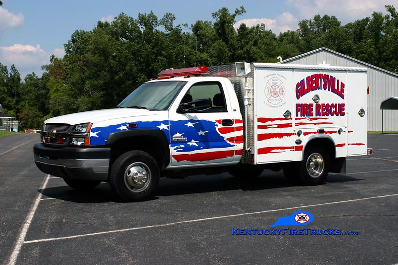 <center> Gilbertsville  Rescue 106 <br> 2002 Chevy 3500 4x4/Wynn <br> Kent Parrish photo </center>