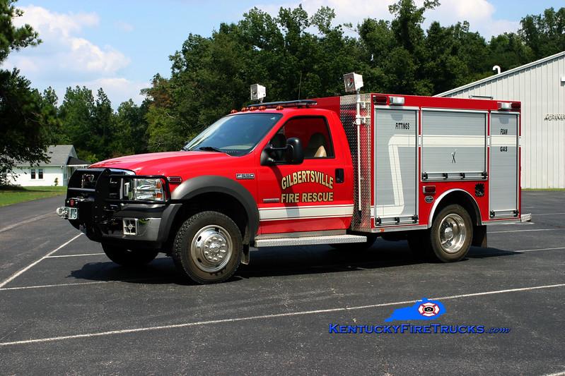 <center> Gilbertsville  Rescue 102 <br> 2005 Ford F-550 4x4/Wynn 150/350/30 <br> Kent Parrish photo </center>