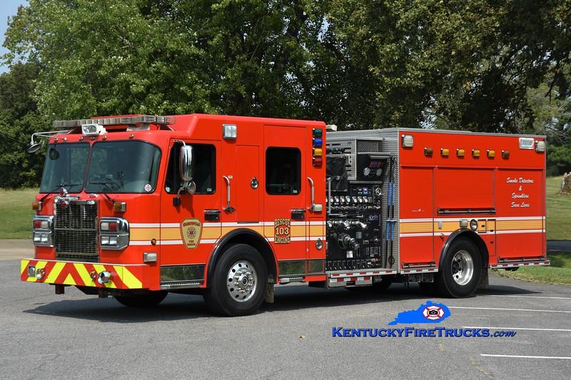 Gilertsville Engine 103<br /> x-Montgomery County, MD<br /> 2008 Spartan Gladiator/Crimson 1500/750/50<br /> Greg Stapleton photo