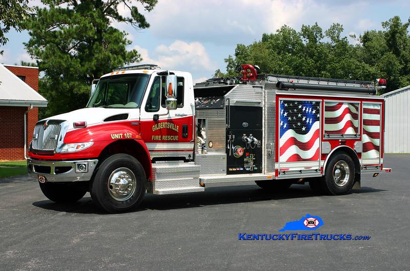 Gilbertsville Engine 107<br /> 2009 International 4400/Wynn 1500/1200/30<br /> Kent Parrish photo