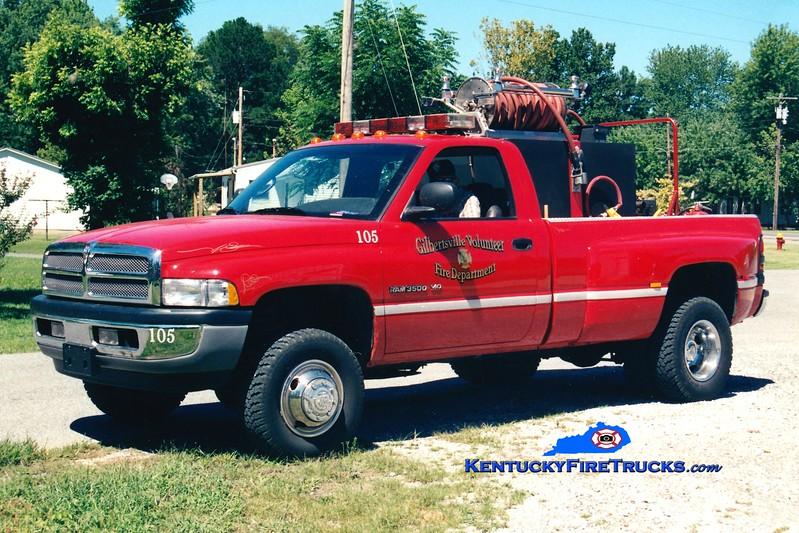 <center> Gilbertsville  Brush 105 <br> 1996 Dodge 3500 4x4 250/250  <br> Greg Stapleton photo </center>
