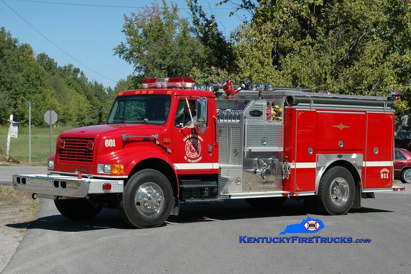 <center> Hardin-South Marshall  Engine 601  <br> 2000 International 4900/E-One 1250/1000 <br> Greg Stapleton photo </center>