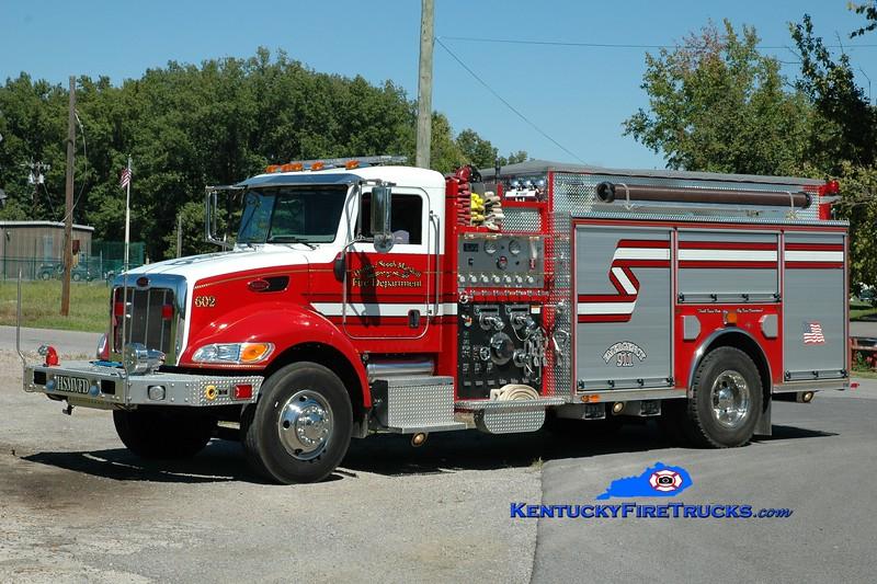 <center> Hardin-South Marshall  Engine 602  <br> 2006 Peterbilt/Red Diamond 1250/1500 <br> Greg Stapleton photo </center>