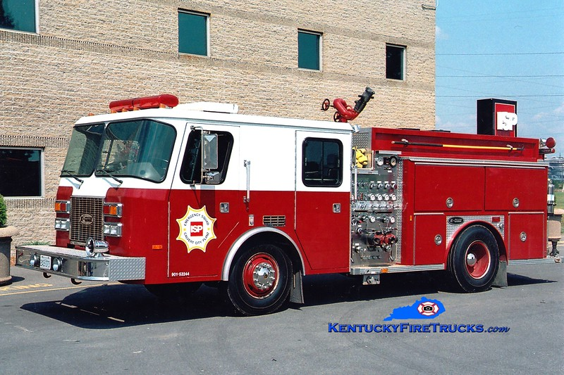 <center> ISP Chemicals Engine 1 <br> 1993 E-One Sentry 1000/250/750F <br> Greg Stapleton <br> </center>