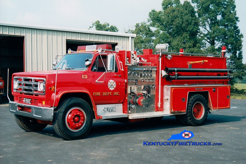 <center> Now with West Marshall, KY <br> E.N.O.  Engine 1203 <br> 1985 Chevy/FMC 1000/1000 <br> Greg Stapleton photo </center>