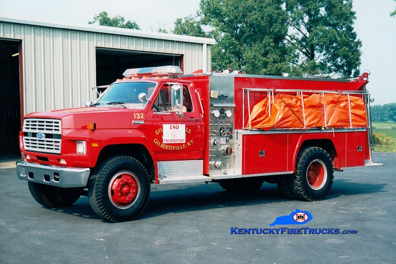 <center> RETIRED <br> E.N.O.  Engine 1202 <br> x-Gilbertsville, KY <br> 1984 Ford F/American-Collins 400/1500 <br> Greg Stapleton photo </center>