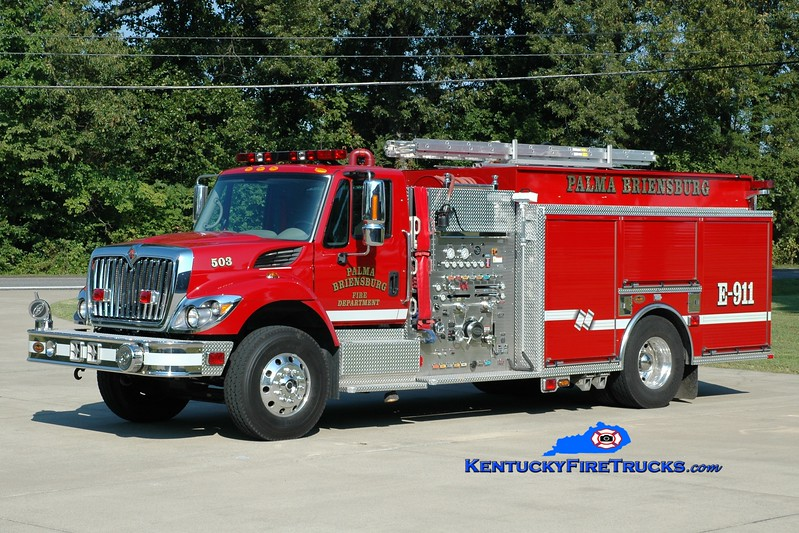 <center> Palma-Briensburg  Engine 503 <br> 2009 International 7400/KME 1250/1250 <br> Greg Stapleton photo </center>