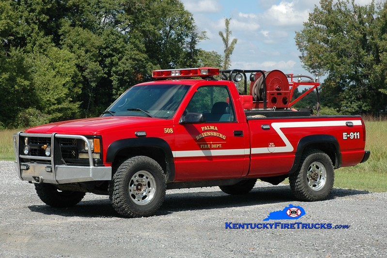 <center> Palma-Briensburg  Brush 508 <br> 1998 Chevy 2500 4x4/FD 250/250<br> Greg Stapleton photo </center>