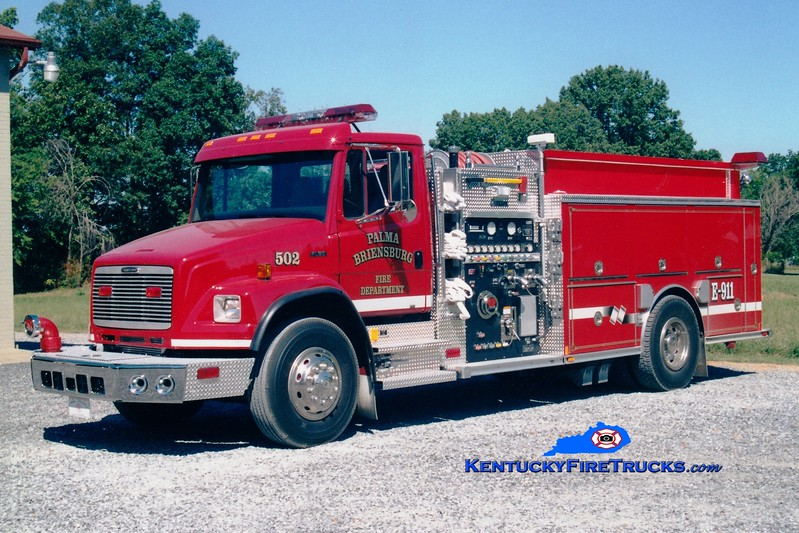 <center> Palma-Briensburg  Engine 502 <br> 2002 Freightliner FL80/Central States 1250/1250 <br> Greg Stapleton photo </center>