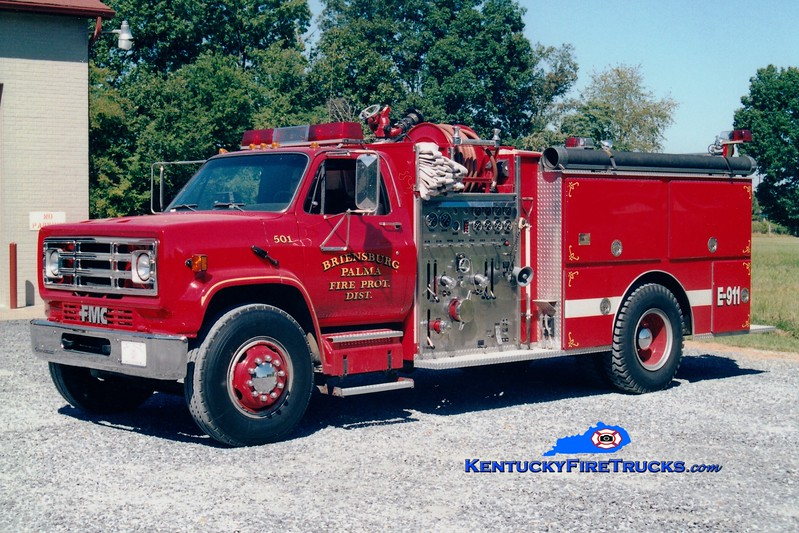 <center> RETIRED <br> Palma-Briensburg  Engine 501 <br> 1989 GMC/FMC 1250/1000 <br> Greg Stapleton photo </center>