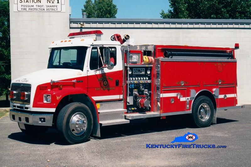<center> Possum Trot/Sharpe  Engine 1102 <br> 1999 Freightliner FL80/Central States 1250/1250 <br> Greg Stapleton <br> </center>