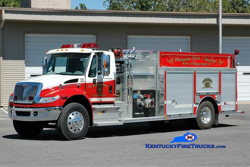 Possum Trot/Sharpe  Engine 1103<br /> 2015 International 4400/Rosenbauer 1250/1250<br /> Greg Stapleton photo
