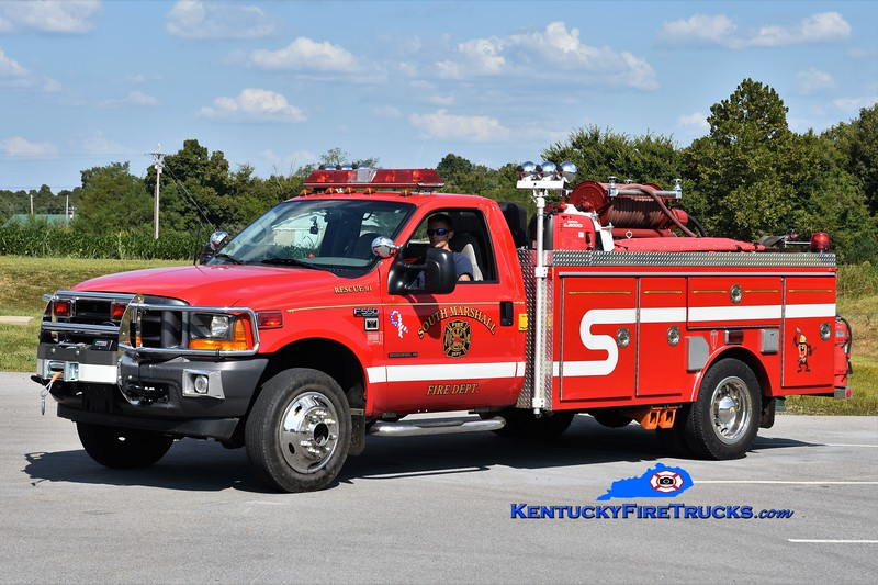 South Marshall  Rescue 91<br /> x-Aurora Ross, KY<br /> 2001 Ford F-550 4x4/Towers 150/350<br /> Greg Stapleton photo