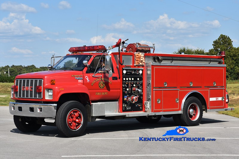 South Marshall  Pumper 92<br /> x-Aurora-Ross, KY<br /> 1990 GMC/Central States 1000/1250<br /> Greg Stapleton photo