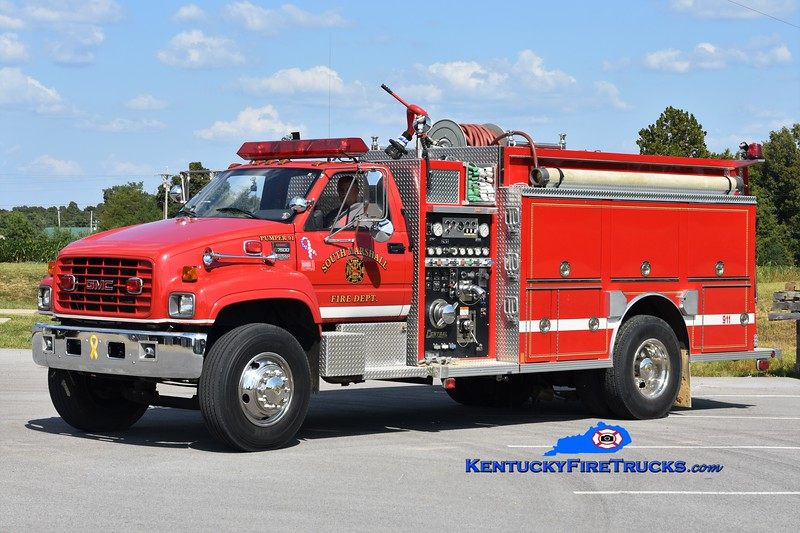South Marshall  Pumper 91<br /> x-Aurora-Ross, KY<br /> 1997 GMC/Central States 1000/1250<br /> Greg Stapleton photo