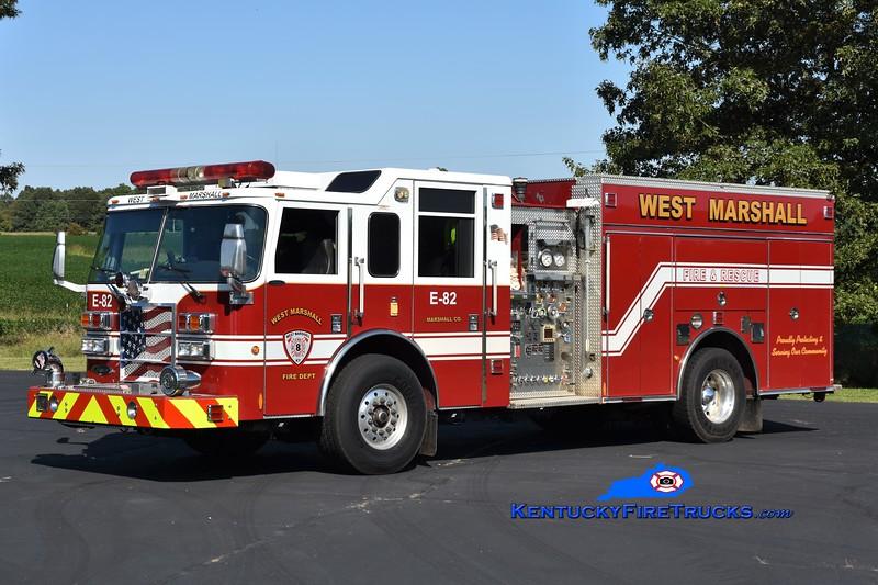 West Marshall  Engine 82<br /> x-Fairfax County, VA<br /> 2005 Pierce Dash/2018 Local 1500/1200<br /> Greg Stapleton photo
