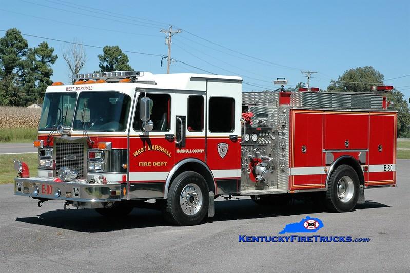 West Marshall  Engine 80<br /> x-Jacksonville, MD; Harvey-Brewers, KY <br /> 1994 Spartan/Quality 1500/1000<br /> Greg Stapleton photo