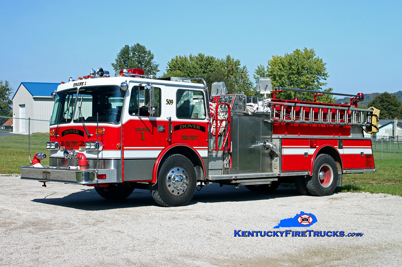 <center> RETIRED <br> Dover  Engine 509  <br> x-Bellmore, NY <br> 1986 Duplex D-350/Young Crusader II 1250/750 <br> Kent Parrish photo </center>