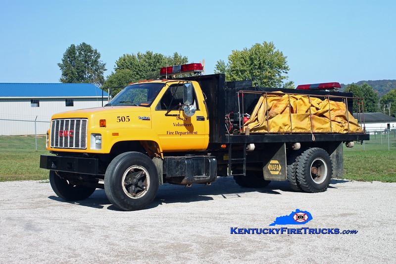<center> Dover  Tanker 505  <br> 1993 GMC TopKick/Custom Concepts 250/1500 <br> Kent Parrish photo </center>