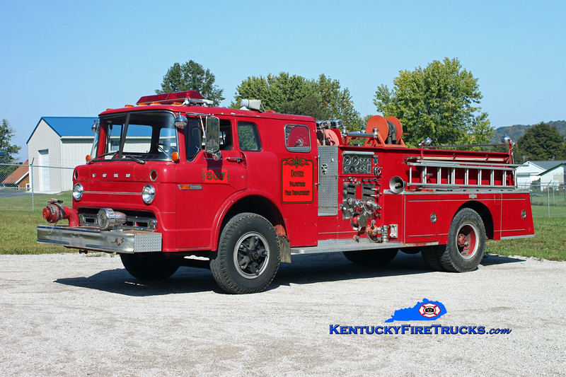 <center> RETIRED <br> Dover  Engine 507  <br> x-General Electric Appliance Park (Louisville) <br> 1978 Ford C-8000/Pirsch 1000/300 <br> Kent Parrish photo </center>