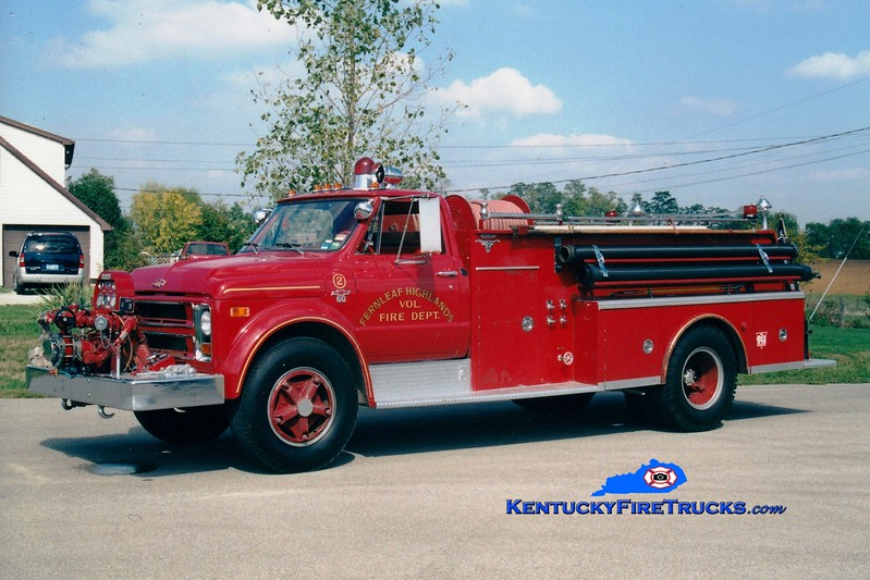 <center> RETIRED <br> Fernleaf Highlands  Engine 2  <br> x-Tollesboro, KY <br> 1968 Chevy C60/Allegheny 500/500 <br> Greg Stapleton photo </center>