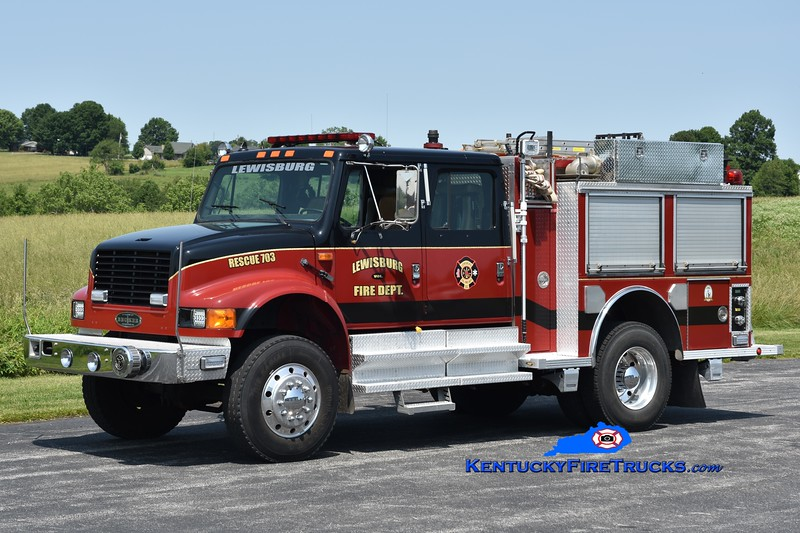 Lewisburg  Rescue 703<br /> 1991 International 4900 4x4/Becker 1000/750<br /> Greg Stapleton photo