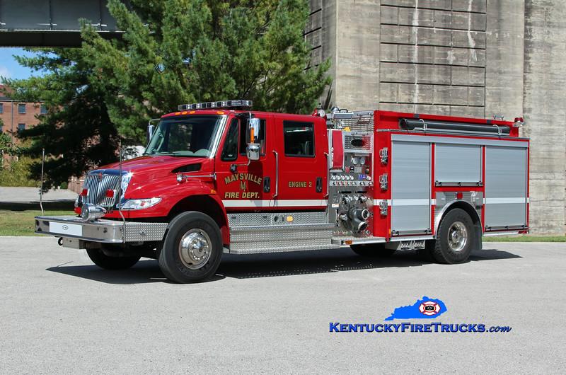 Maysville  Engine 2<br /> 2014 International 4400/E-One 1250/1000/30<br /> Kent Parrish photo