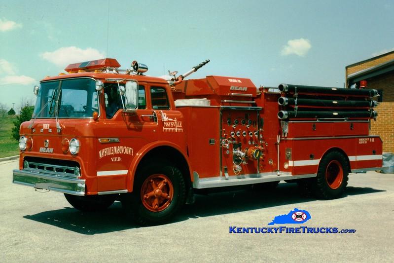<center> RETIRED <br> Maysville/Mason County  Engine 101  <br> 1974 Ford C/Bean 1000/750 <br> Greg Stapleton photo </center>