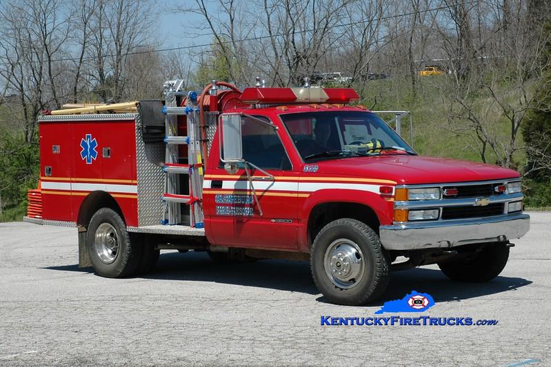 <center> RETIRED <br> Orangeburg  Brush 310 <br> 1992 Chevy 3500 4x4/1975 Pierce 300/200 <br> Greg Stapleton photo </center>